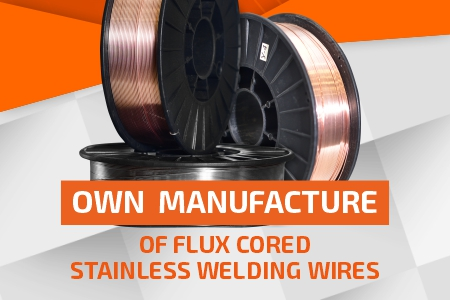 Manufacture of Flux cored stainless welding wires